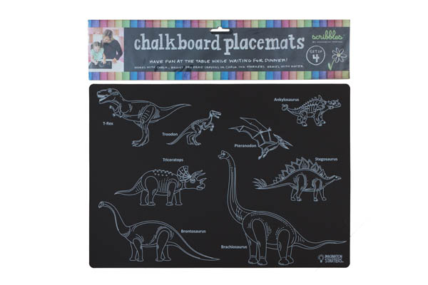 "Chalkboard Learning Placemats 12""x 17"" - Set of 4"