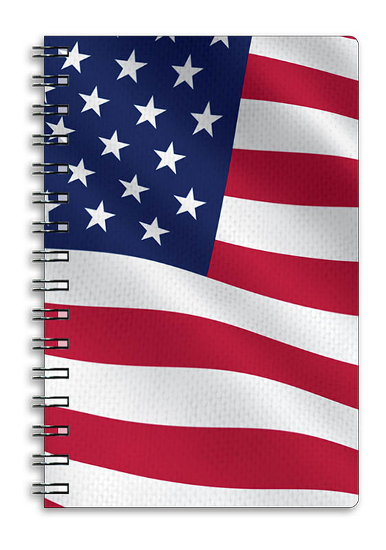 "American Flag 3D Notebook 4"" x 6"""
