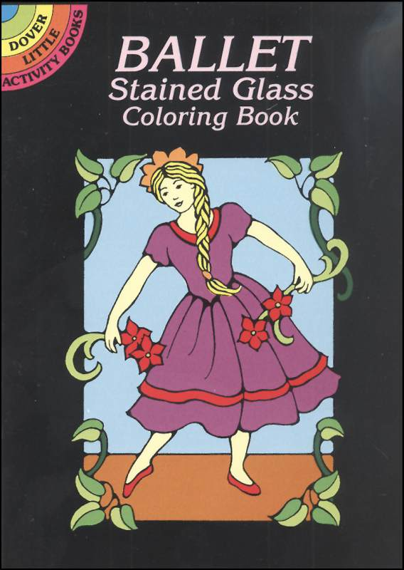 Ballet Little Stained Glass Coloring Book