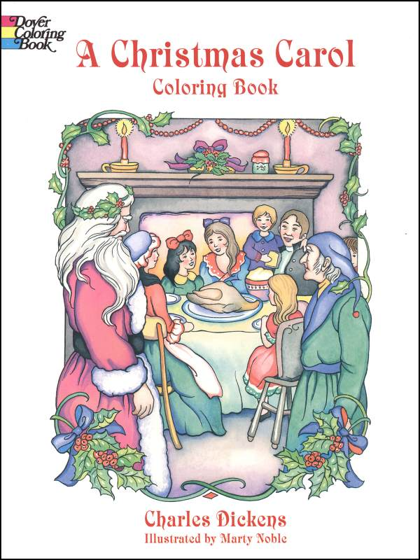 - Christmas Carol Coloring Book Dover Publications 9780486405636