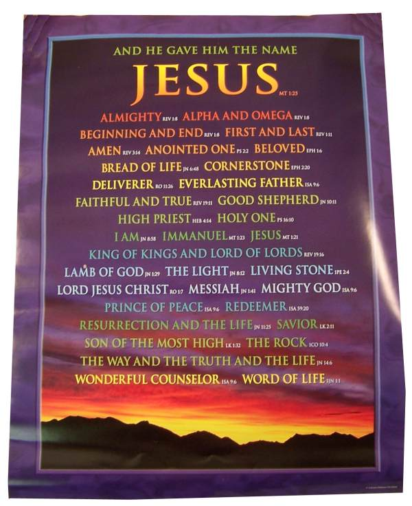 "Names of Jesus Chartlet (17"" x 22"")"