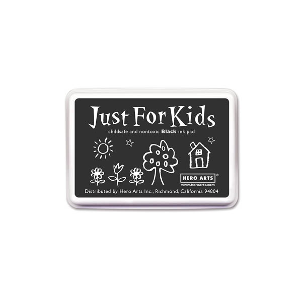 Black Just for Kids Ink Pad