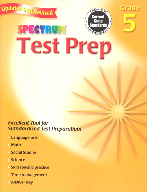 Spectrum Test Preparation Grade 5