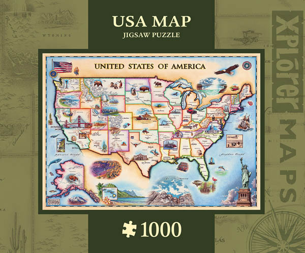 Xplorer USA Map Puzzle (1000 pieces)
