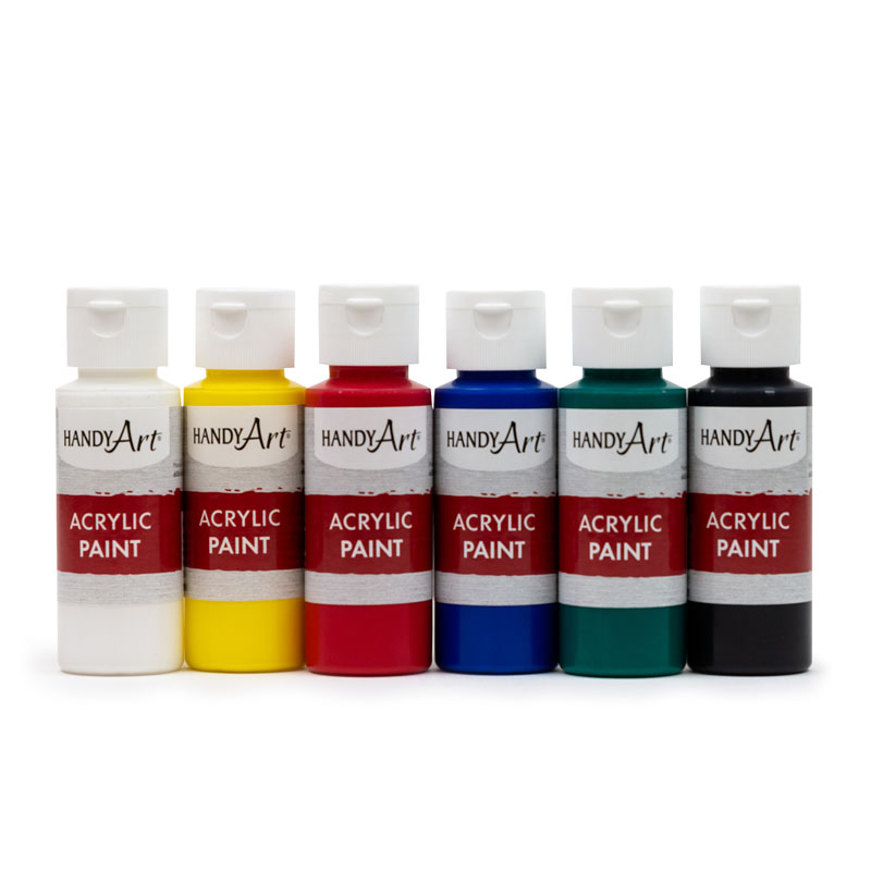 Set of Six Acrylic Paints