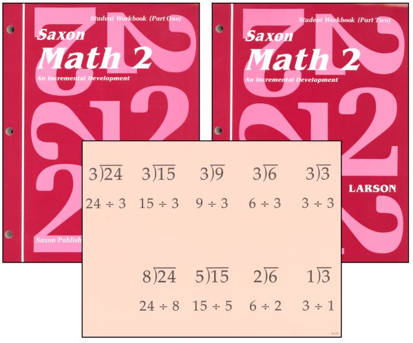 Saxon Math 2 Student Workbooks / Fact Cards