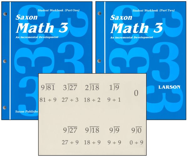 Saxon Math 3 Student Workbooks / Fact Cards