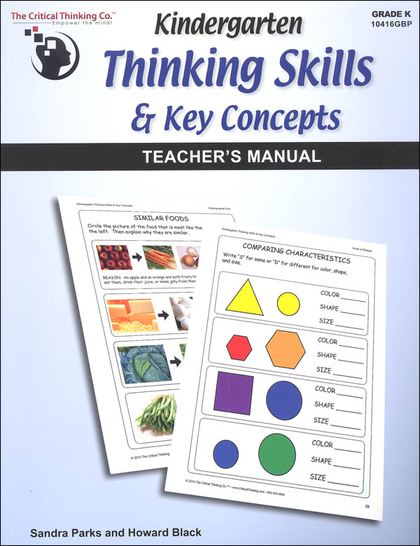 Kindergarten Thinking Skills & Key Concepts Teacher's Manual