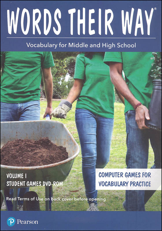 Words Their Way: Vocabulary for Middle & High School 2014 Student Games DVD-ROM Volume I