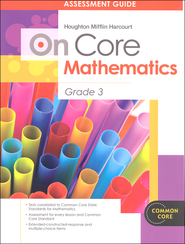On Core Mathematics Student Assessment Guide Grade 3