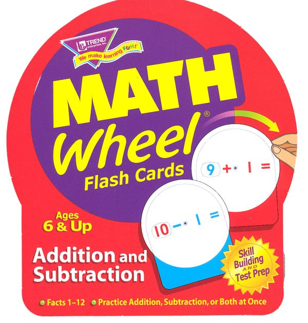 Math Wheel Addition / Subtraction Flash Cards