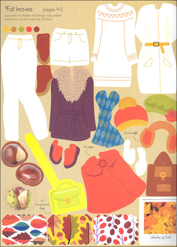 Sticker Dolly Dressing Fashion Designer Fall Collection Usborne Activities Edc Usborne 9780794522261
