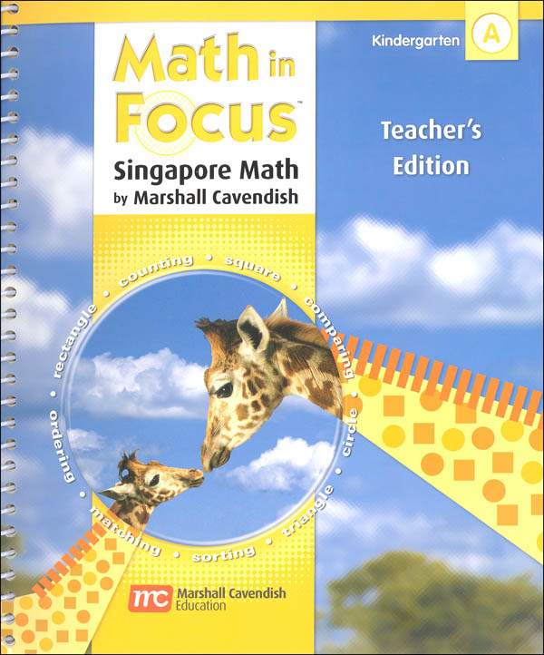 Math in Focus Grade K Teachers Edition Book A 1st Semester