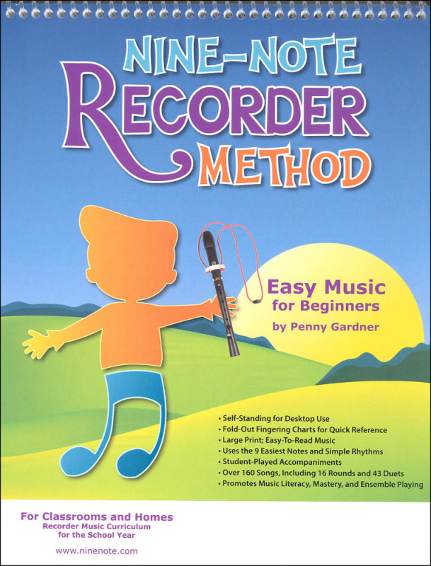 Nine-Note Recorder Method: Easy Music for Beginners