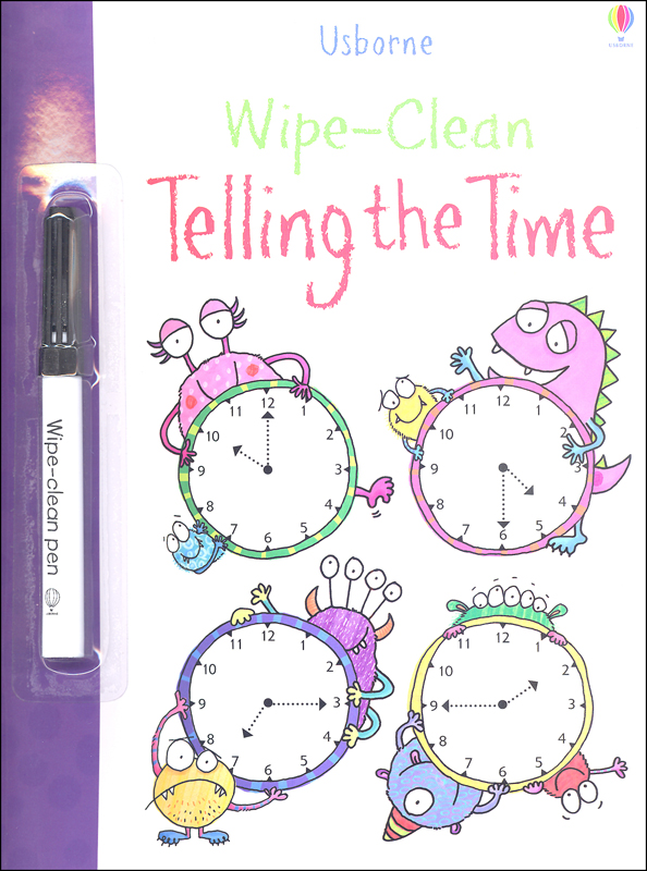 Telling the Time (Wipe-Clean)