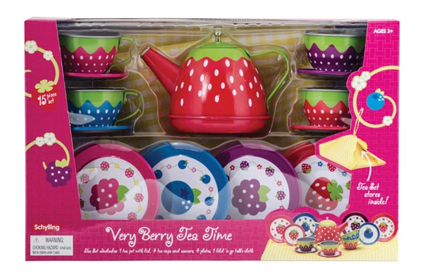 Very Berry Tea Time Tin Tea Set