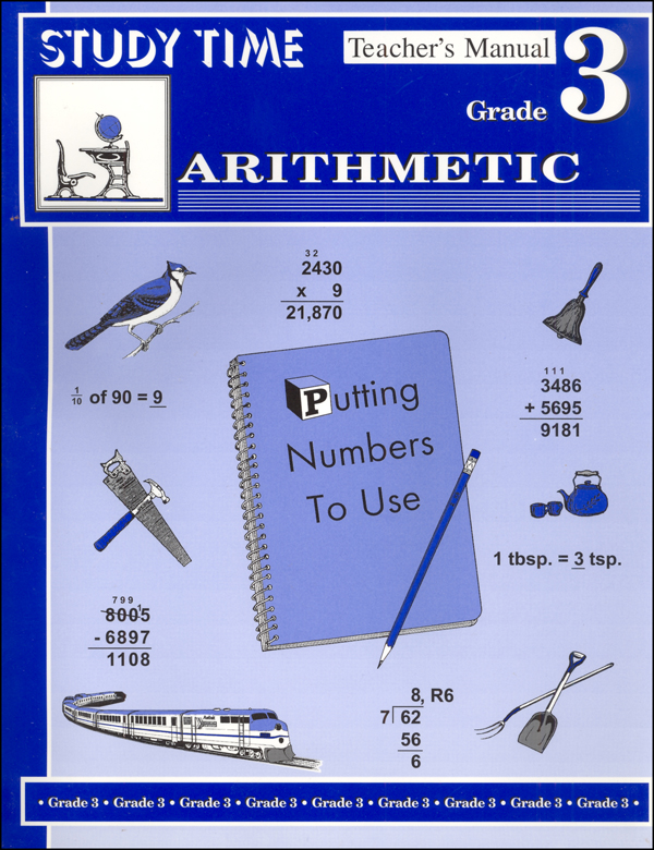 Study Time Arithmetic - Teacher's Manual, Grade 3