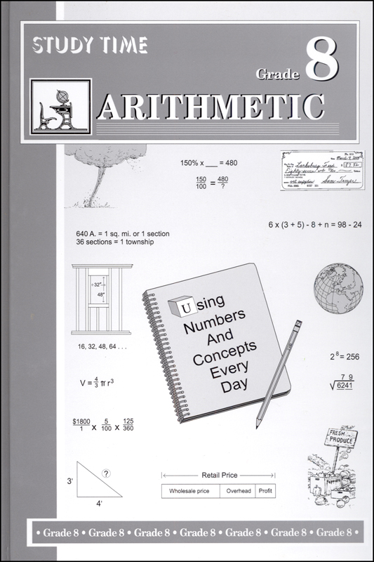 Study Time Arithmetic - Textbook, Grade 8
