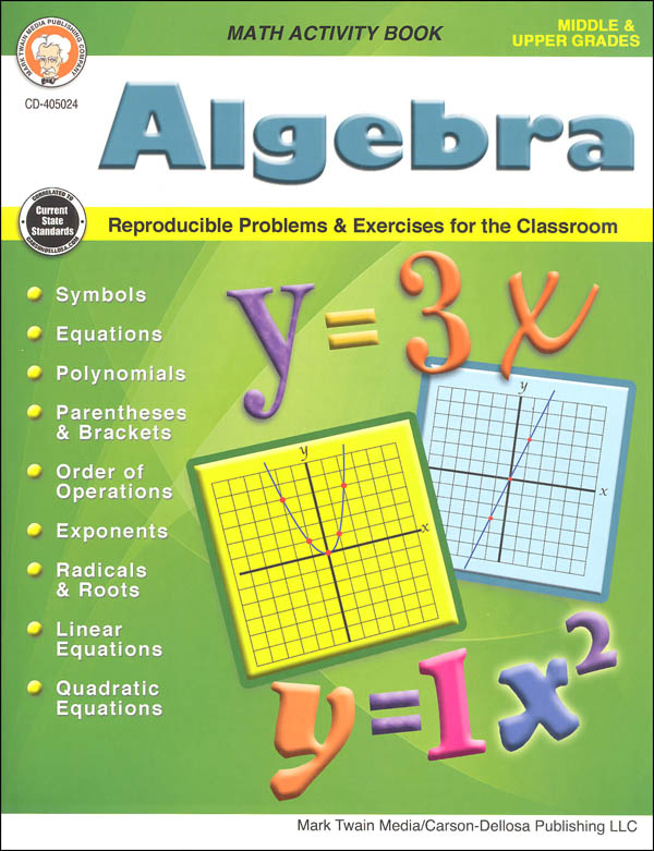 Algebra Math Activity Book