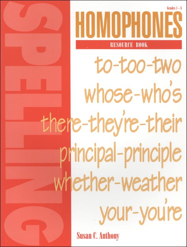 Spelling Homophones Resource Book