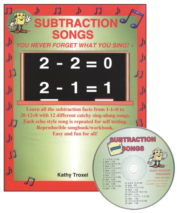 Subtraction Songs Kit w/ CD