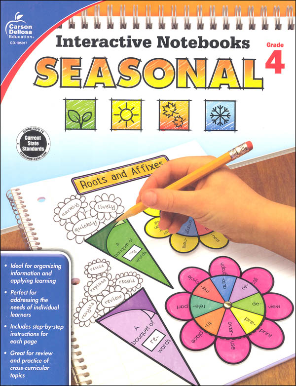 Interactive Notebooks: Seasonal - Grade 4