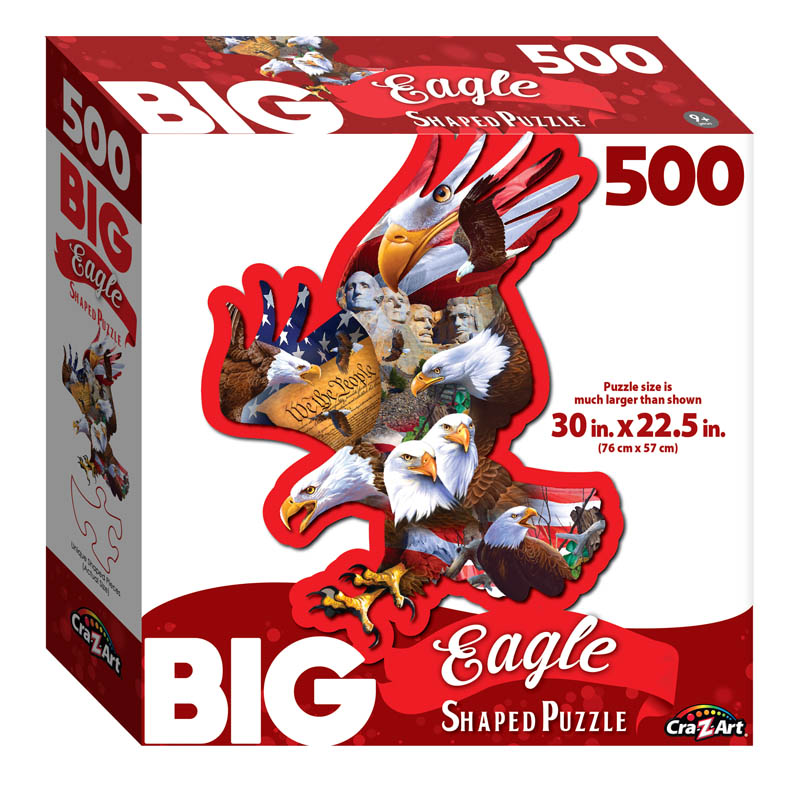Big Shaped Great American Eagle Jigsaw Puzzle (500 piece)