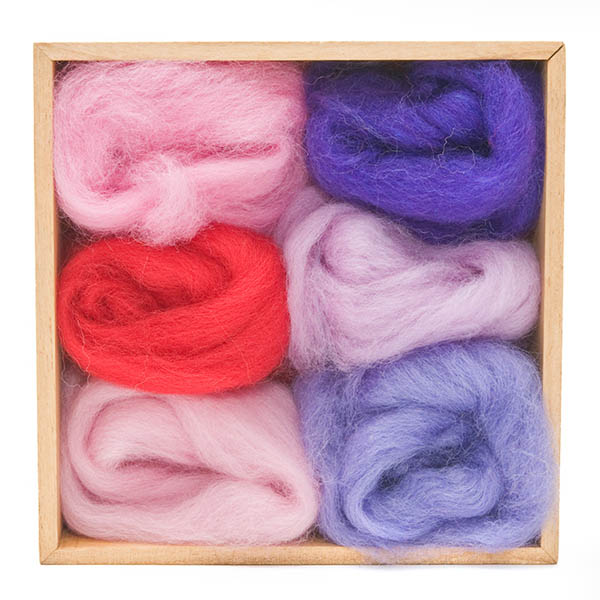Woolpets Wool Roving (1.5 oz bag) - Fuchsia