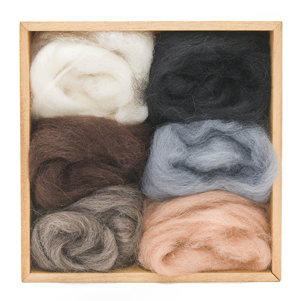 Woolpets Wool Roving (1.5 oz bag) - Neutral