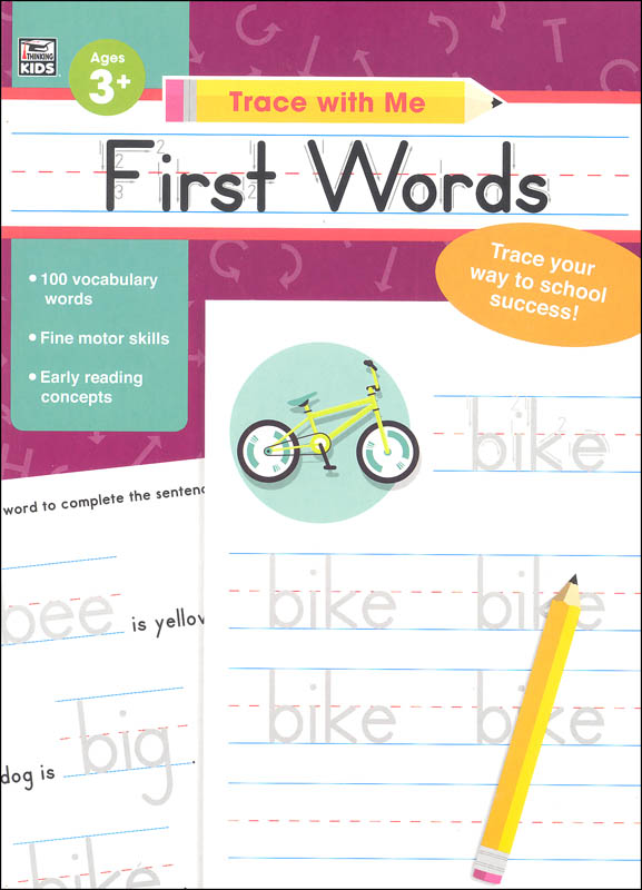 First Words Activity Book (Trace with Me)