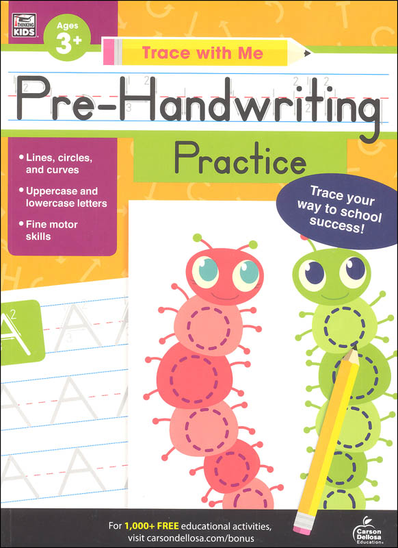 Pre-Handwriting Practice Activity Book (Trace with Me)