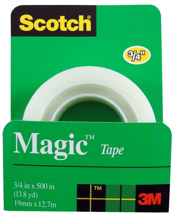"Scotch Magic Tape 3/4""x500"" Refill Roll"