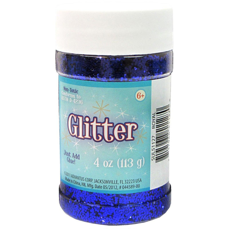 Glitter Shaker Top Jar - Blue (4oz/76 grams)