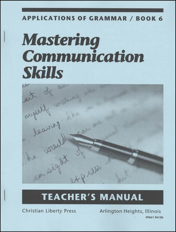 Applications of Grammar 6 Teacher Manual