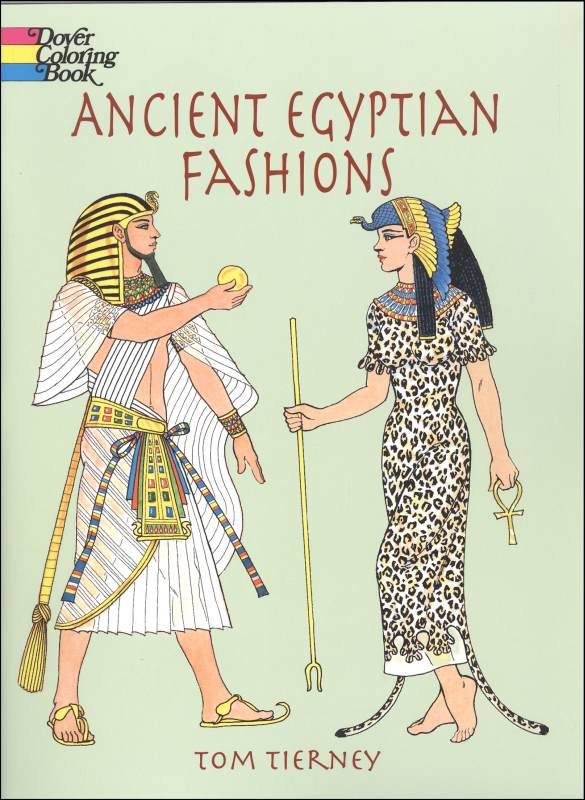 Ancient Egyptian Fashions Coloring Book Dover Publications 9780486408064