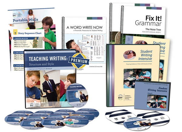 Deluxe Teaching Writing/Student Writing Intensive Combo Pack B (with Fix-It! Grammar 1 & 2;  Portable Wall; And Word Wri