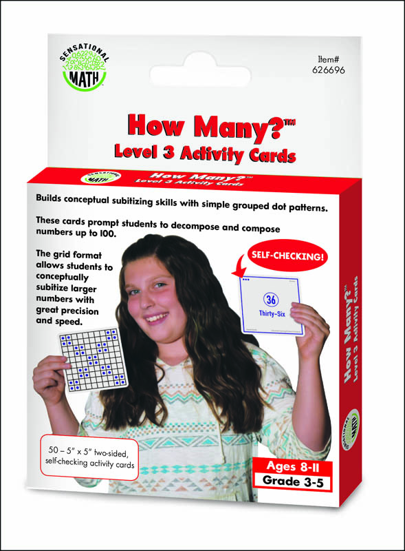 How Many? Activity Cards Level 3 (Sensational Math)