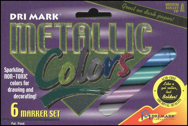 Metallic Markers 6-pack Medium Point