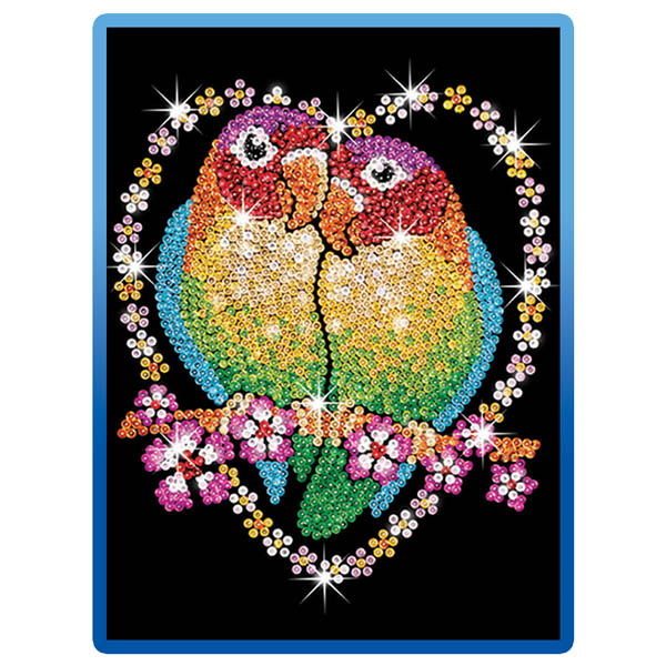 Sequin Art Blue Love Birds