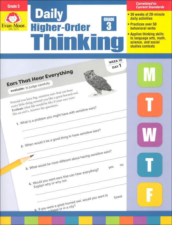 Daily Higher-Order Thinking: Grade 3