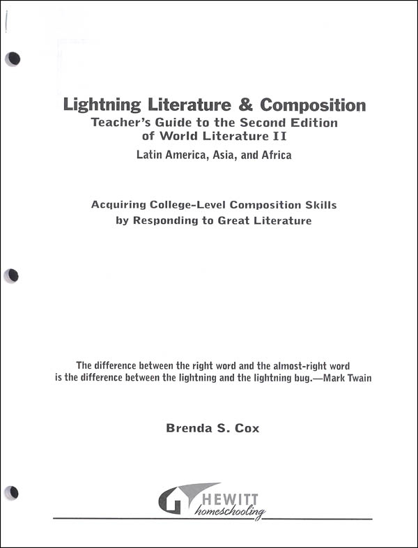 Lightning Literature & Composition World II: Latin America, Africa and Asia Teacher Guide