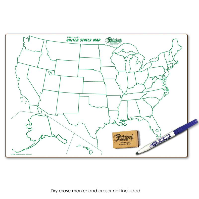 us map dry erase board United States World Map Double Sided Dry Erase Board 11 X 16