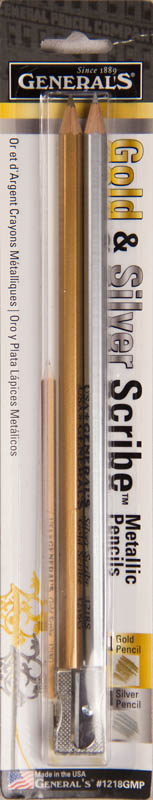 Gold and Silver Scribe Metallic Pencil Set