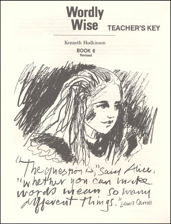 Wordly Wise 6 Teacher Key