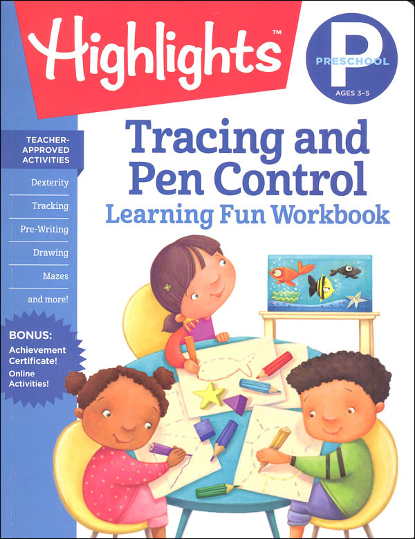 Preschool Tracing and Pen Control (Highlights Learning Fun Workbook)