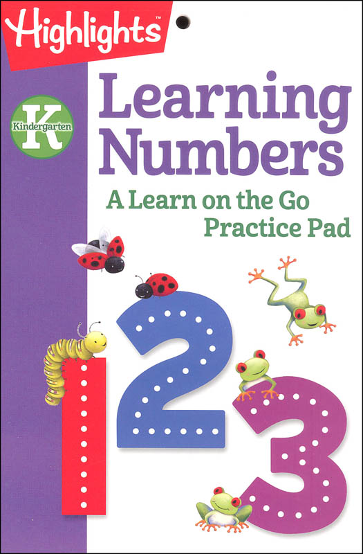 Highlights Kindergarten Learning Numbers Practice Pad
