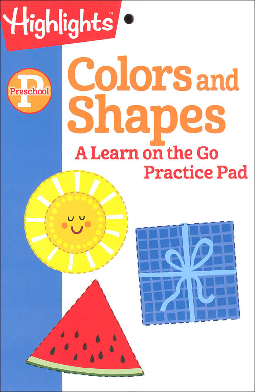 Highlights Preschool Colors and Shapes Practice Pad