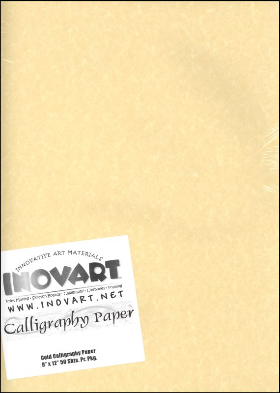 "Calligraphy Paper - Antique Gold 9"" x 12""  (50 Sheets)"