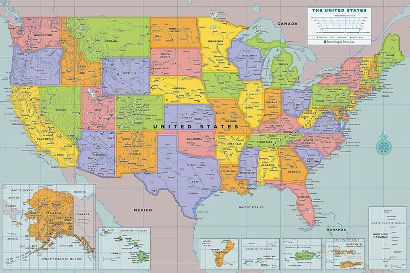 Peel & Stick United States of America Map