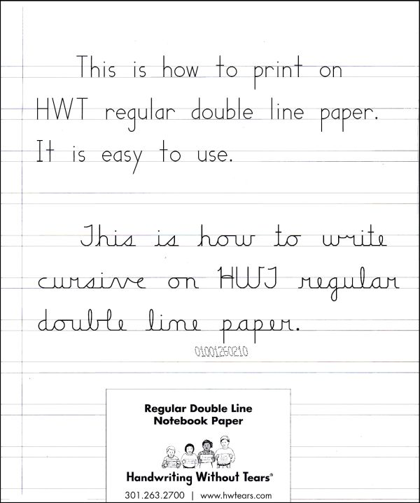 Regular Double Line Notebook Paper - 100 Sheets